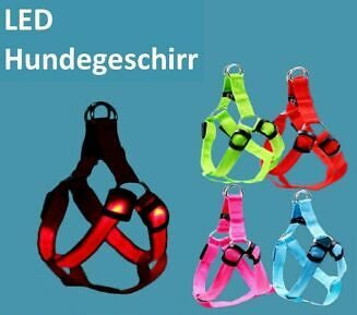 LED Hundegeschirr Protektor Sicherheit Brustgeschirr 3 Leuchtversionen Harness