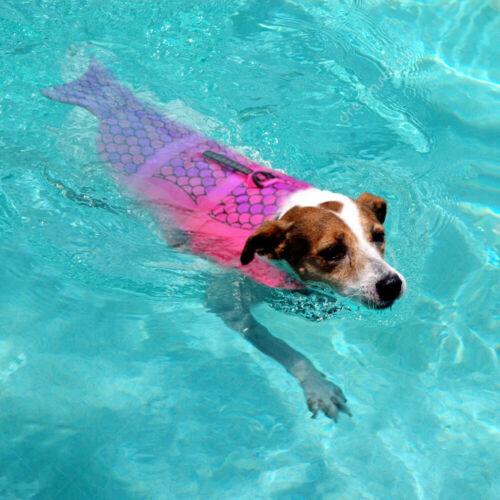 Rettungsweste für Hund Schwimmhilfe Hundeweste mit Bergegriff Grau Rosa S M L 7