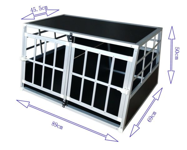 Hundetransportbox L fürs Auto, Reisebox, Hundebox, Käfig, Transportbox 1