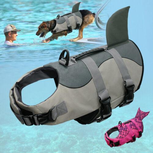 Rettungsweste für Hund Schwimmhilfe Hundeweste mit Bergegriff Grau Rosa S M L