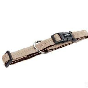 Nobby Halsband Soft Grip beige / chocolate L: 20-30cm B: 10mm