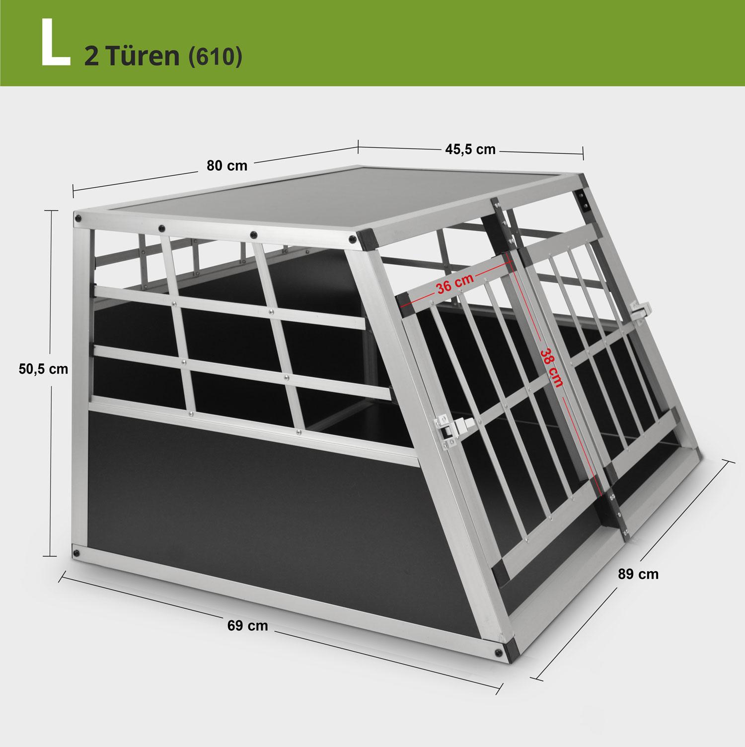 Aluminium Hundetransportbox Alu Auto Hunde Katzen Reise Box Käfig Transportbox