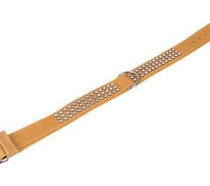 Hundehalsband Karlie - Halsband Buffalo Strass 60 cm 40 mm hellbraun